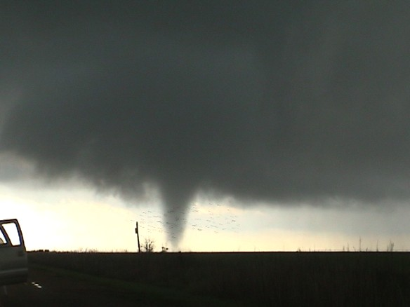 One of two tornadoes I observed southeast of Groom, TX on April 22nd.