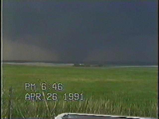 Large tornado approaching I-35.