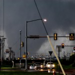 Looking west on 19th street in Moore.