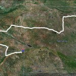 June 22 chase route.