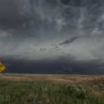 Nasty looking supercell near La Grange, Wyoming.