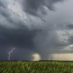 Severe storm west of Osceola, Nebraska.