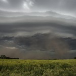 Here comes the dirt! Near Utica, Nebraska.