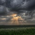 Approaching sunset near Magnet, Nebraska.